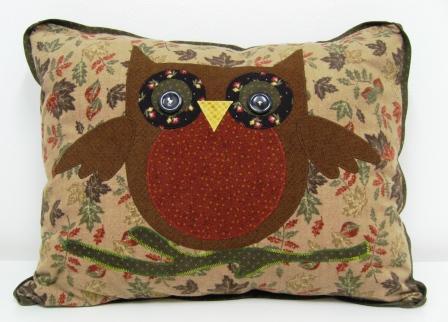 Owl cushion blog