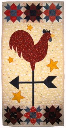 A wallhanging I made for from a pattern in Country Threads book ' On behalf of Chickens'