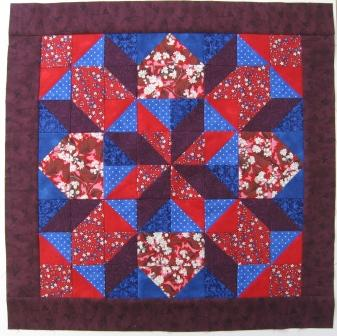 The finished block before quilting