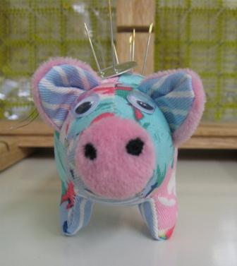 Percy the Pink Pig pincushion