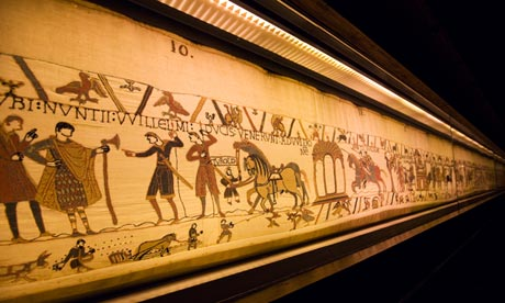The Bayeux Tapestry in the William the Conqueror Centre in Bayeux