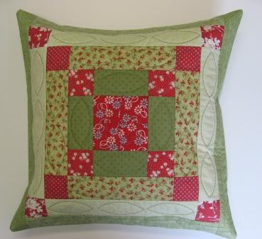The finished 'Cobweb' cushion