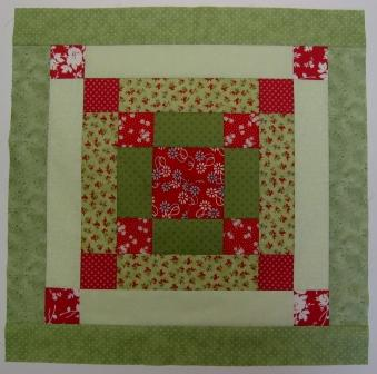 The pieced cushion basis. Made from left over Jelly roll strips