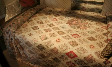 The patchwork coverlet made by Jane Austen