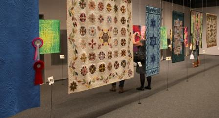 More quilts at the OEQC, some with the desirable yet elusive rosette!