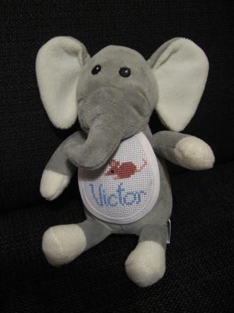 Victor's elephant, complete with mouse!