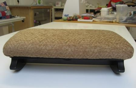 The Foot Buddie in the studio, prior to reupholstering.