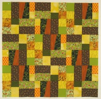 The central quilt panel: blocks sewed together in layout 2.