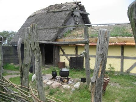 The merchant's house in the Viking Village at Fotevikens Museum, Sweden