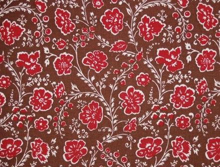 The brown reproduction fabric. An 1750's Swedish design.
