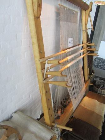 The loom at the Viking Ship Museum in Roskilde