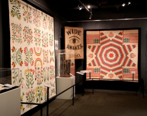 Two quilts from the Homefront Exhibit.