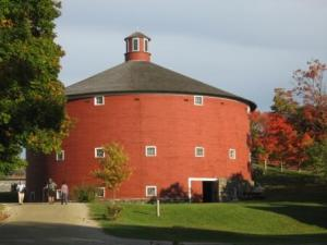 The round barn at the Shelburne Museum in Vermont.