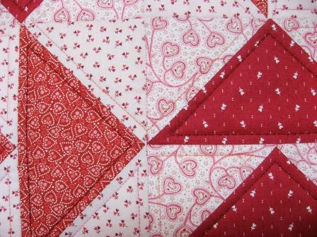 Detail of echo quilted geese
