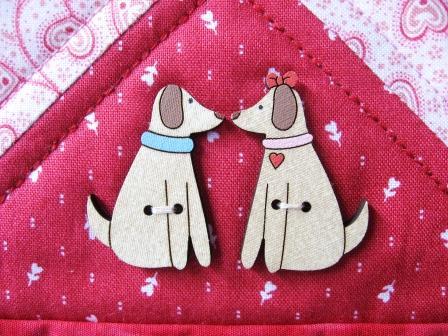 Mr. and Mrs. Valentine Dog