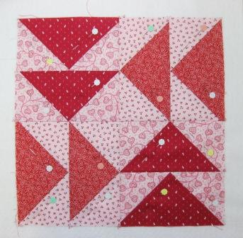 Layered and ready for quilting