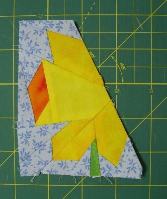 Half a daffodil flower