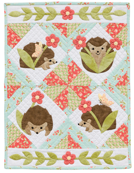 The original Hedgehog Heyday quilt.