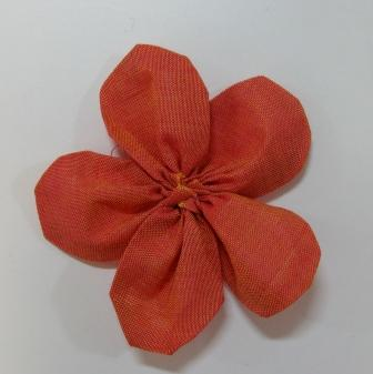 The flower, ready to appliqué.