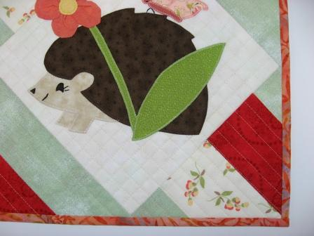 Binding and quilting close-up