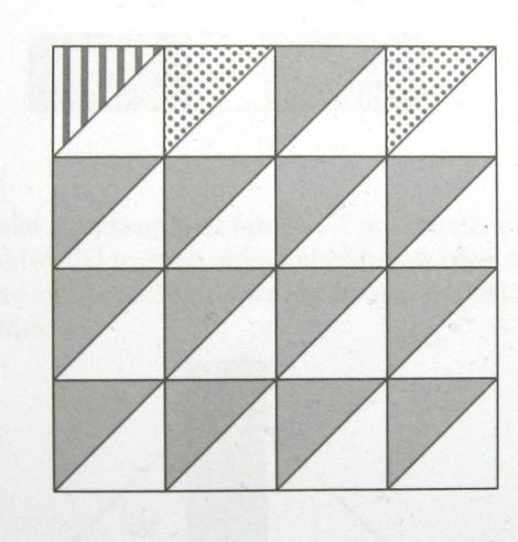 The Half Square Triangle block.
