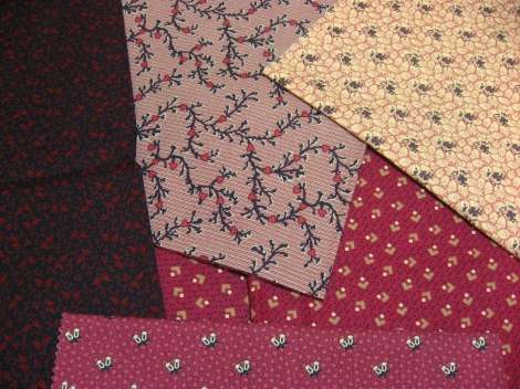 The fabric selection for Indian Hatchet.