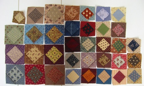 Gypsy Wife week 15: 35 Square-in-a-square blocks.